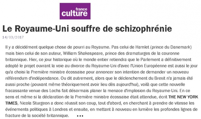 Capture FRANCE CULTURE ROYAUME UNI
